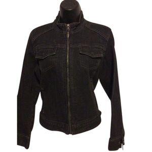 Chico's stretch black denim Jean jacket